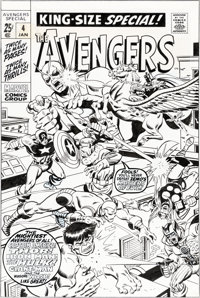 Sal Buscema Avengers Annual #4 Cover Masters of Evil Original Art (Marvel, 1971)