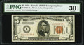 Small Size:World War II Emergency Notes, Fr. 2301 $5 1934 Non-Mule Hawaii Federal Reserve Note. PMG Very Fine 30 EPQ.. ...