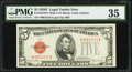 Small Size:Legal Tender Notes, Fr. 1531* $5 1928F Wide I Legal Tender Star Note. PMG Choice Very Fine 35.. ...