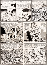 Wally Wood Mad #4 Story Page 6 Superduperman Original Art (EC, 1953)