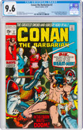 Bronze Age (1970-1979):Adventure, Conan the Barbarian #2 (Marvel, 1970) CGC NM+ 9.6 White pages....