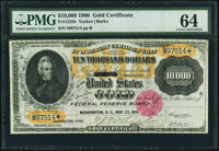 Fr. 1225h $10,000 1900 Gold Certificate PMG Choice Uncirculated 64