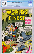 Silver Age (1956-1969):Superhero, World's Finest Comics #97 (DC, 1958) CGC VF- 7.5 White pages....