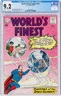 Silver Age (1956-1969):Superhero, World's Finest Comics #114 (DC, 1960) CGC NM- 9.2 Off-white to white pages....