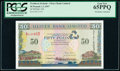 World Currency, Northern Ireland Ulster Bank Limited 50 Pounds 1.1.1997 Pick 338 PCGS Gem New 65 PPQ.. ...