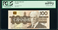 Canada Bank of Canada $100 1988 BC-60d PCGS Gem New 66 PPQ