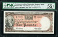 Australia Commonwealth of Australia Reserve Bank 10 Pounds ND (1960-65) Pick 36 R63 PMG About Uncirculated 55 EPQ