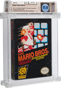 Super Mario Bros. [Promotional Copy] Wata 7.0 CIB NES Nintendo 1985 USA