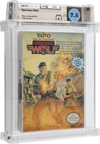 Operation Wolf [Oval SOQ TM] Wata 7.0 A Sealed NES Taito 1989 USA