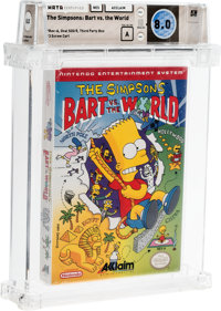 The Simpsons: Bart vs. the World Wata 8.0 Sealed NES Acclaim 1991 USA