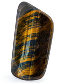 Lapidary Art:Carvings, Tiger's-Eye Slab. South Africa. 4.13 x 2.25 x 0.23 inches (10.50 x 5.72 x 0.58 cm). ...