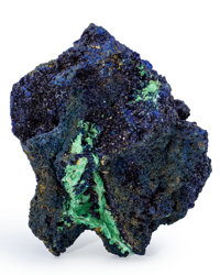 Azurite Hubei Province China 4.87 x 4.69 x 2.86 inches (12.36 x 11.92 x 7.27 cm)