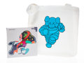 Collectible, KAWS X NGV. Stay Steady Puzzle and Running Chum Tote Bag, 2019. 1000 piece jigsaw puzzle and cloth tote bag. 17 x 17... (Total: 2 Items)