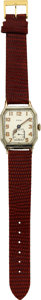 Timepieces:Wristwatch, Elgin Early Oversize Wristwatch Double Hinged Case, circa ...