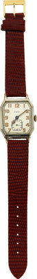 Elgin Early Oversize Wristwatch Double Hinged Case, circa 1923