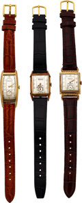 Timepieces:Wristwatch, Three Gruen Vintage Wristwatches Case: