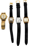 Timepieces:Wristwatch, Four Bulova Vintage Wristwatches, Excellency, Lone Eagle, ...