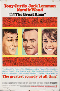 """The Great Race (Warner Bros., 1965). Folded, Very Fine-. One Sheet (27"""" X 41""""). Comedy"""