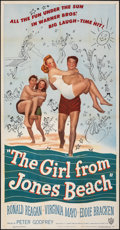 "Movie Posters:Comedy, The Girl from Jones Beach (Warner Bros., 1949). Folded, Very Fine-. Three Sheet (41"" X 79""). Comedy.. ..."