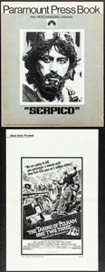 """Movie Posters:Crime, Serpico & Other Lot (Paramount, 1974). Fine/Very Fine. Uncut Pressbooks (5) (Multiple Pages, 8.5"""" X 14"""" - 12.25"""" X 17""""). Cri... (Total: 5 Items)"""