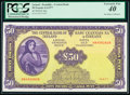 World Currency, Ireland Central Bank of Ireland 50 Pounds 4.4.1977 Pick 68c PCGS Extremely Fine 40.. ...