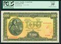 World Currency, Ireland Central Bank of Ireland 100 Pounds 11.11.1969 Pick 62c PCGS Very Fine 30.. ...