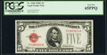 Small Size:Legal Tender Notes, Fr. 1528 $5 1928C Legal Tender Note. PCGS Gem New 65PPQ.. ...