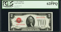 Fr. 1503 $2 1928B Legal Tender Note. PCGS New 62PPQ