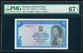 Rhodesia Reserve Bank of Rhodesia 10 Shillings 10.9.1968 Pick 27a PMG Superb Gem Unc 67 EPQ
