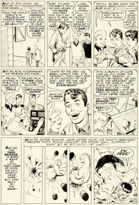 Steve Ditko Incredible Hulk #6 Story Page 13 Original Art (Marvel, 1963)