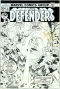 Original Comic Art:Covers, Sal Buscema The Defenders #8 Cover Doctor Strange and Hawkeye Original Art (Marvel, 1973)....