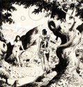 Original Comic Art:Illustrations, Wally Wood Adam and Eve Poster Illustration Original Art (Wallace Wood, c. 1978)....