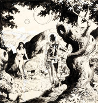 Wally Wood Adam and Eve Poster Illustration Original Art (Wallace Wood, c. 1978)