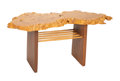 Mira Nakashima (American, b. 1942) Portsmouth Side Table, 2004 Maple burl, American black walnut, hickory 20 x 43-1/2