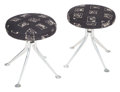 Furniture, Alexander Hayden Girard (American, 1907-2007). Pair of Stools, Model #66308, circa 1968, Herman Miller. Cast aluminum, u... (Total: 2 Items)