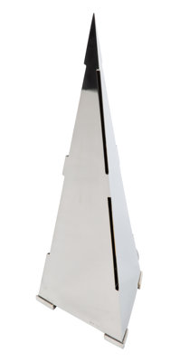 Gabriella Crespi (Italian, 1922-2017) Pyramid Table Lamp, circa 1970 Chrome-plated brass 23-3/4 x 8-1/2 x 7-1/2 inche