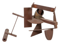 Kim Nelson (American, 20th Century) Untitled, circa 1975 Patinated steel 19-1/2 x 29-3/4 x 25-3/4 inches (49.5 x 75.6