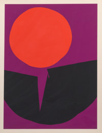 Luis Feito López (Spanish, b. 1929) Circulo III, 1970 Lithograph in colors on paper 29-1/2 x 22-1/2 inches (74.9...