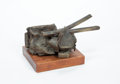 Sculpture, Russell Baldwin (American, 1934-2008). Untitled. Bronze, wood base. 8 x 16 x 11 inches (20.3 x 40.6 x 27.9 cm). Stamped ...