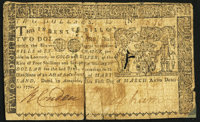 Maryland March 1, 1770 $2 Fine