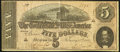 Confederate Notes:1864 Issues, Confederate Poem T69 $5 1864 Fine-Very Fine.. ...