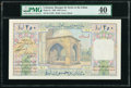 World Currency, Lebanon Banque de Syrie et du Liban 250 Livres 1.4.1939 Pick 21 PMG Extremely Fine 40.. ...