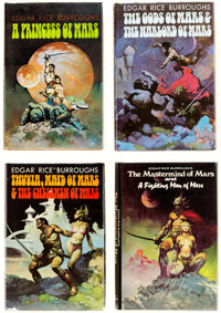 Edgar Rice Burroughs mars-Related Hardcover Group of 6 (Nelson Doubleday, 1970-77).... (Total: 6 Items)