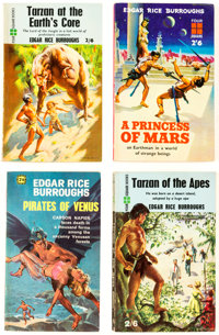 Edgar Rice Burroughs Vintage UK Paperbacks Box Lot (Four Square, 1959-67) Condition: Average