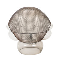 Gae Aulenti (Italian, 1927-2012) Patroclo Lamp, circa 1975, Artemide Blown glass, steel mesh 18 x 18 x 11 inches (45