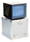 Decorative Accessories, Mario Bellini (Italian, b. 1935). Rare Cubo 15 Television with Case, 1992, Brionvega. Glass, electronic components, enam... (Total: 3 Items)