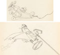 Animation Art:Production Drawing, The Mail Pilot Mickey Mouse and Pete...