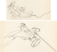 The Mail Pilot Mickey Mouse and Pete Animation Drawings Group of 2 (Walt Disney, 1933). ... (Total: 2 Original Art)
