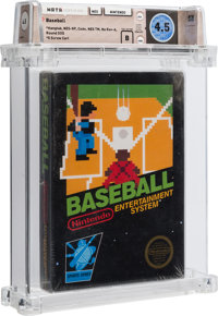 Baseball [Hangtab, 3 Code, Mid-Production] Wata 4.5 B Sealed NES Nintendo 1985 USA