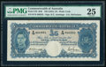 World Currency, Australia Commonwealth of Australia 5 Pounds ND (1941) Pick 27b PMG Very Fine 25.. ...
